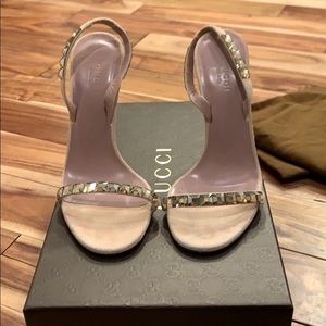 Gucci Mallory Jeweled Sandal. Like new condition.